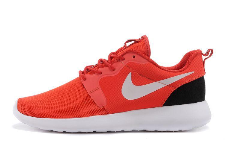 pas mal e52fa 1eb17 nike rosh run noir et rose,chaussure femme sport,rosh run ...